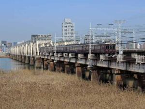 阪急京都線淀川橋梁2ds