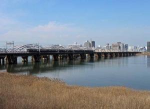 阪急京都線淀川橋梁1ds