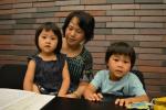森松明希子母子3人の写真